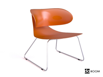 The orange Engineering unique styling chair 3D Model
