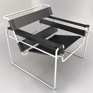 The simple modern chair model 3D Model