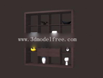 The song earth closet bookcase 3D model