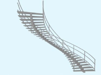 The staircases 3D model