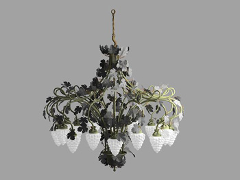 The unique design of strawberries chandelier 3D Model