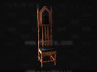 The unique shape wooden chair 3D Model