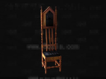 The unique shape wooden chair 3D Model