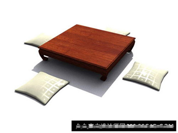 The wood Chuangta coffee table 3D model