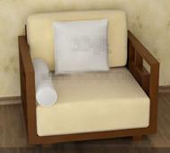 The yellowish comfortable single sofa 3D Model