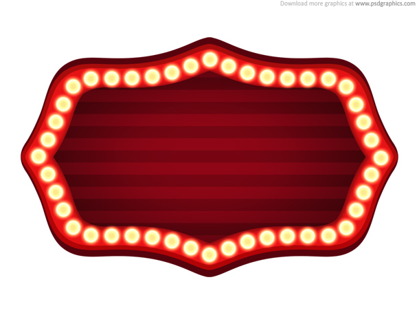 Theater sign template (PSD)
