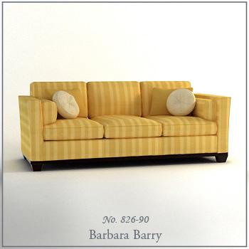 Three positions Cloth Skill Sofa 3D Model