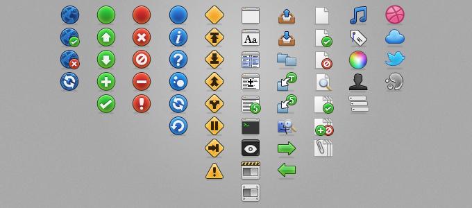 Toolbar Icons PSD