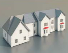 Townhouses / Architectural Model-8 3D Model
