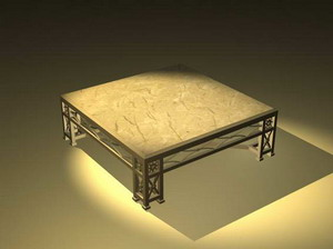 Traditional Furniture 002– tea tables 48 (max) 3D Model