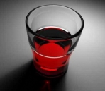 Transparent red wine glass 3D Model