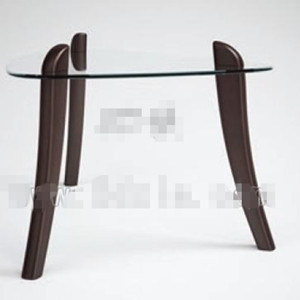 Triangle transparent glass tea table 3D Model