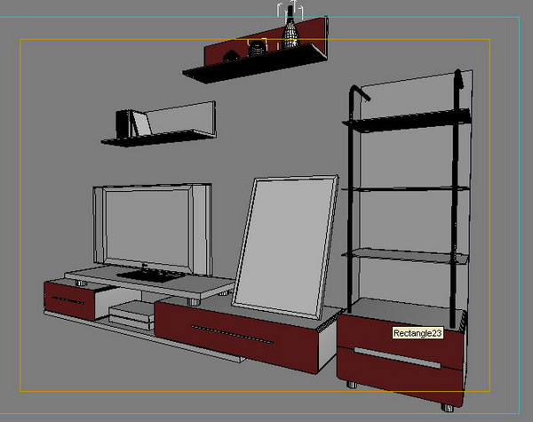 TV cabinets, beds, wardrobes 3D Model