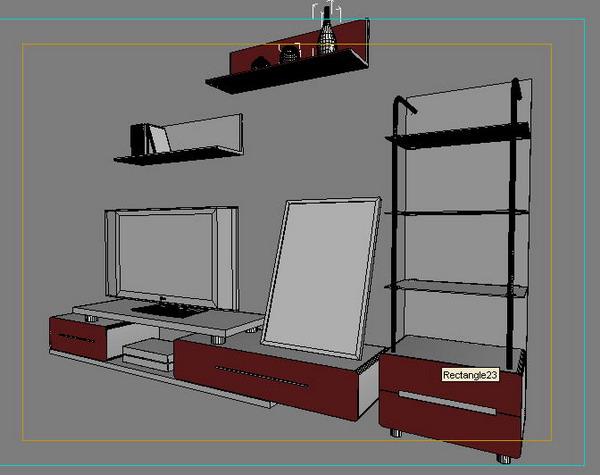 TV cabinets, beds, wardrobes 3D Model