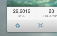 Twitter Interface PSD