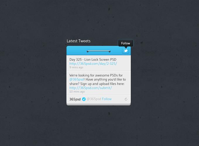 Twitter Widget Design PSD