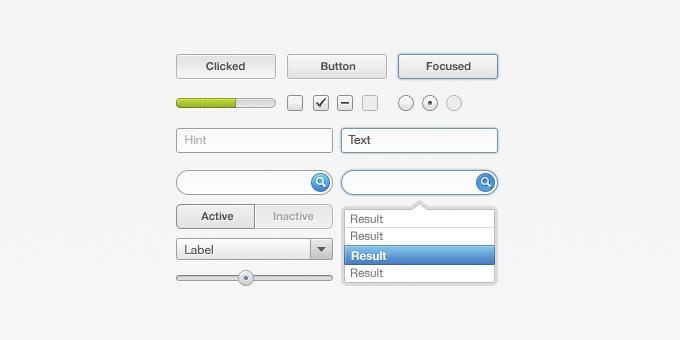 UI-Element Set PSD