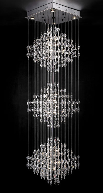 Ultra-modern crystal chandelier 3D Model