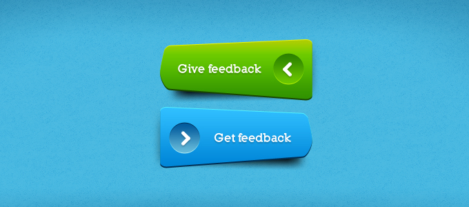 Unique Green & Blue Buttons PSD