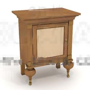 Unique square door bedside cabinet 3D Model