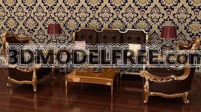 Victorian Sofa Combination 3D Model