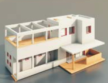Villas and Construction -66 3D Model