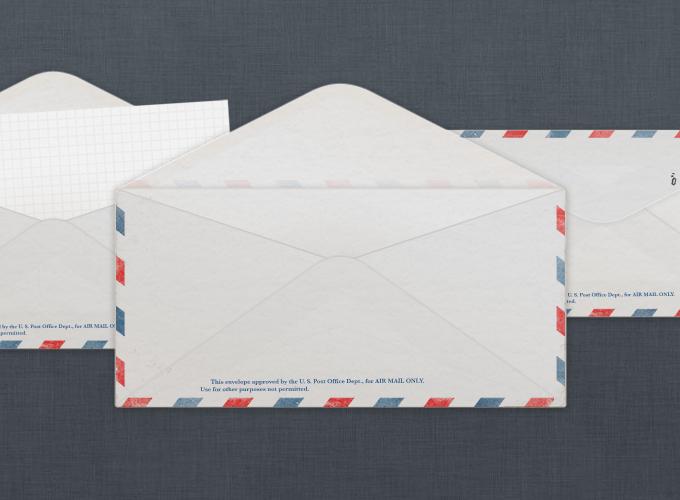 Vintage U.S. Air Mail envelope PSD