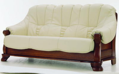 Vintage wood sofa 3D model