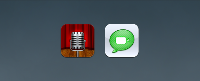Voice Memos and Facetime Replacement Icons PSD