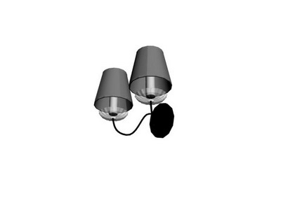 Wall Lamp Model: Classic Shape Wall Lamp 3D Model