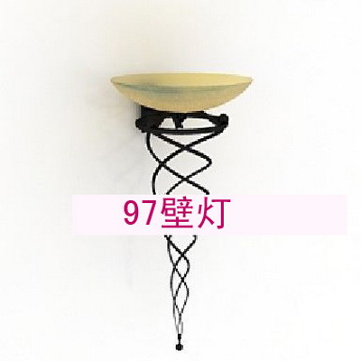 Wall Lamp Model: Torch Shaped Wrounght Iron Wall Lamp 3D Model
