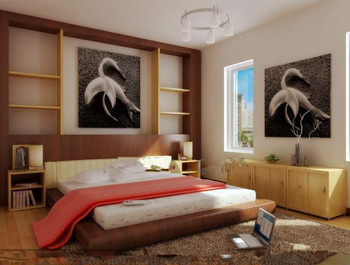Warm and simple white bedroom 3D Model