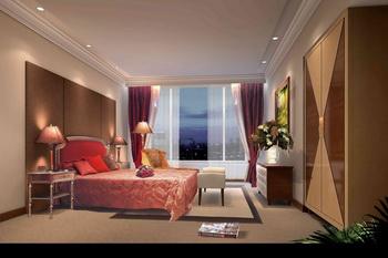 Warm dark spacious bedroom 3D Model