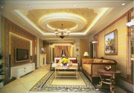 Warm European-style living room 3D Model