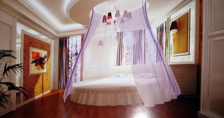 Warm ladies bedroom 3D model (including materials)