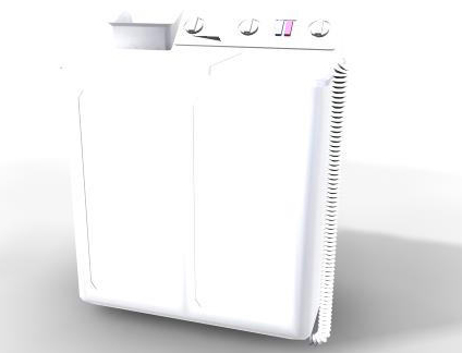 Washing Machine 3D Model-3