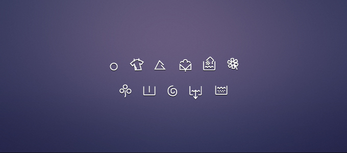 Washing Machine Icons PSD