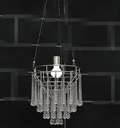 Water columnar crystal pendant lamp 3D Model
