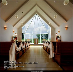 Wedding Decor: Aisle Church 3D Model