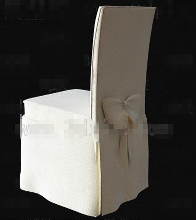 White butterfly knot chair 3D Model