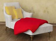 White comfortable single recliner sofa 3D Model