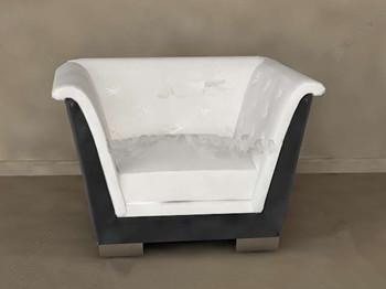 White cushion comfortable single sofa 3D Model
