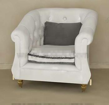 White European style single sofa 3D Model