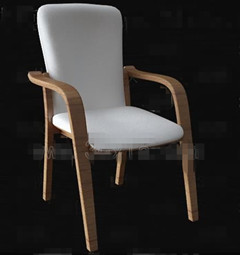 White fabric comfortable chair 3D Model
