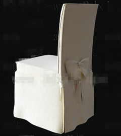 White fabric wooden chair 3D Model