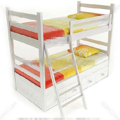 White fresh children stacked bed 3D Model