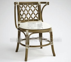 White hollow wicker chair 3D Model