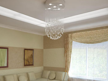 White light curtain pendant chandelier 3D Model