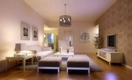 White main theme clean and chic living room 3D Model