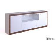 White multi-functional TV cabinet 3D Model